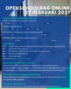 programma openschooldag 2021